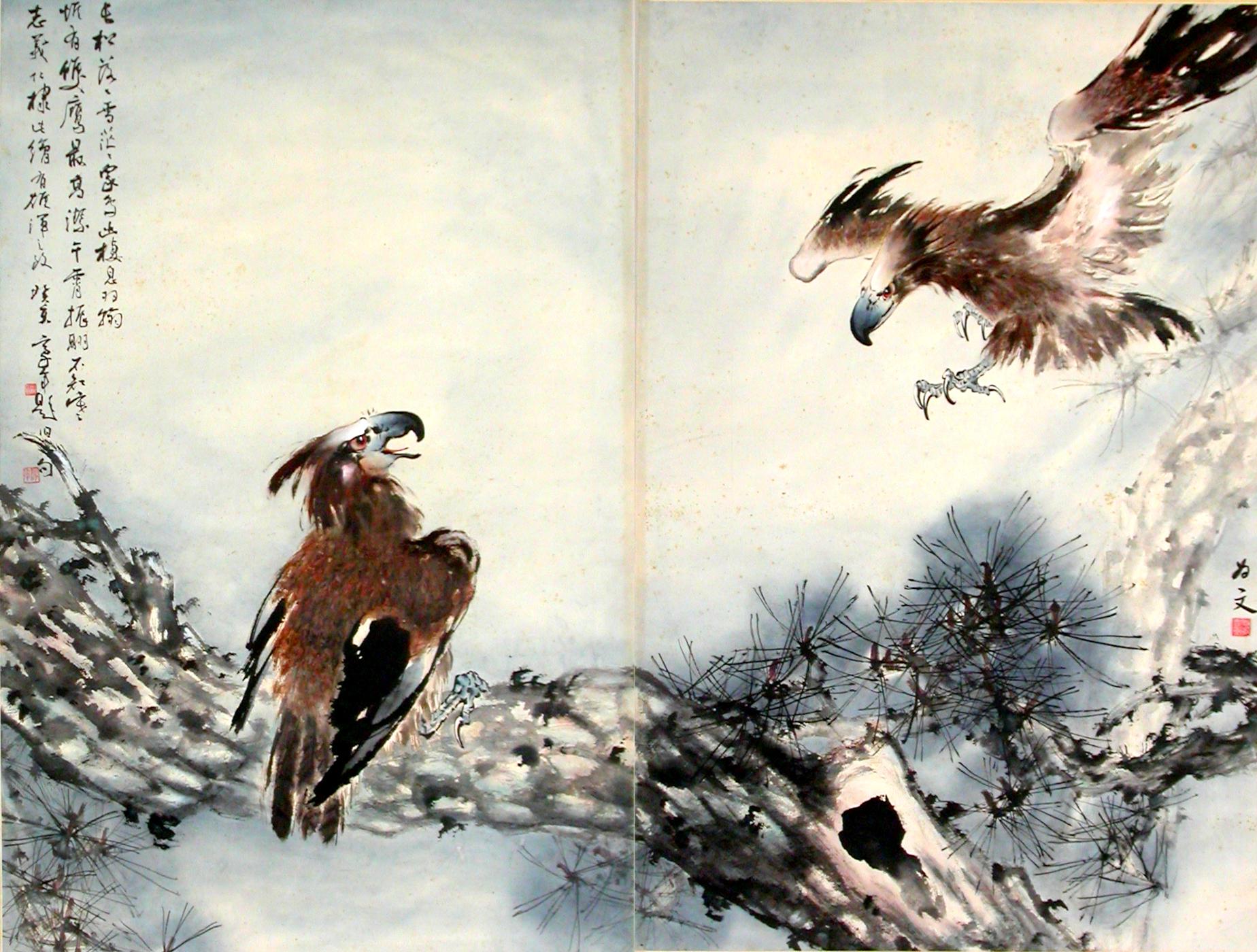 《雙鷹》 許志義1983年作於夏威夷